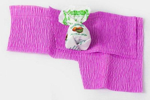 Чудесный подарочный букет из конфет своими руками