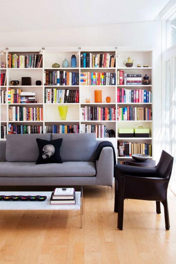 Стеллаж для книг в зале