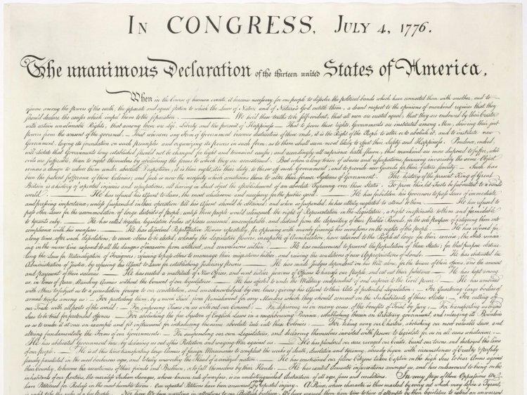 9. Копия Декларации независимости США под картиной за 4 доллара в мире, везение, жизнь, история, люди, находка, удача