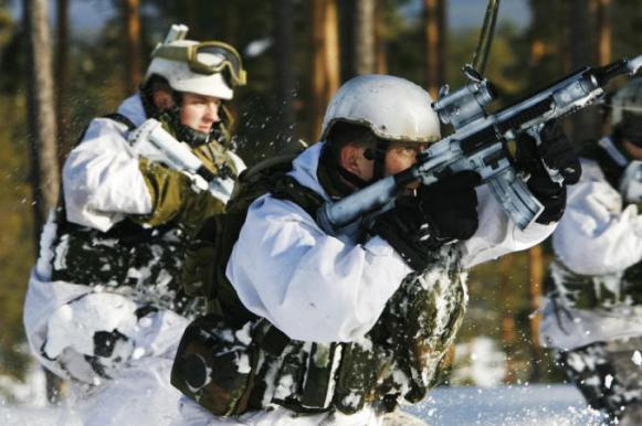 В сугробах по пояс: в Эстонии солдаты НАТО тренировались побеждать Россию