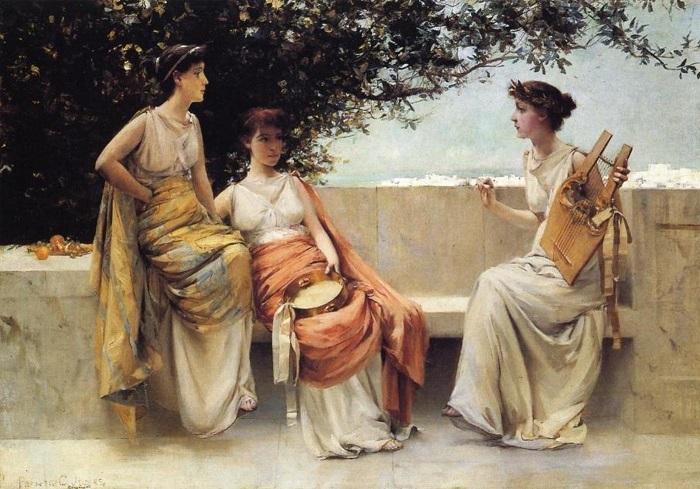 Сапфо и подруги на картине Френсиса Джоунса.