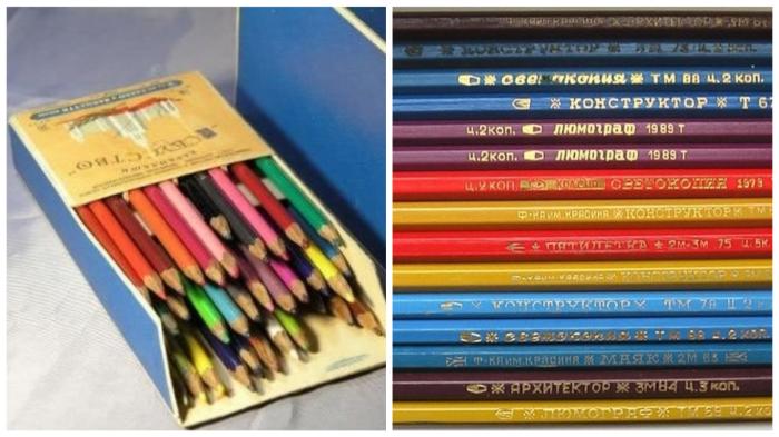 Грифель цветных карандашей «Искусство» измельчали при помощи наждачной бумаги...