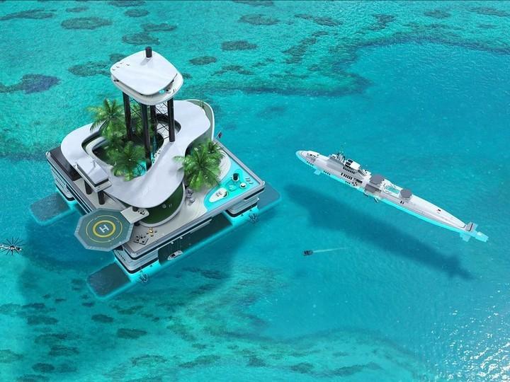 Яхты – уже не круто. Теперь в моде у миллиардеров передвижные частные острова…