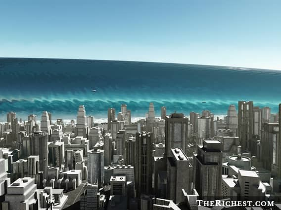 Смертоносное цунами море, океан, ужасы