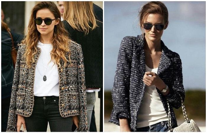 Твидовый жакет в стиле Chanel вне моды и времени