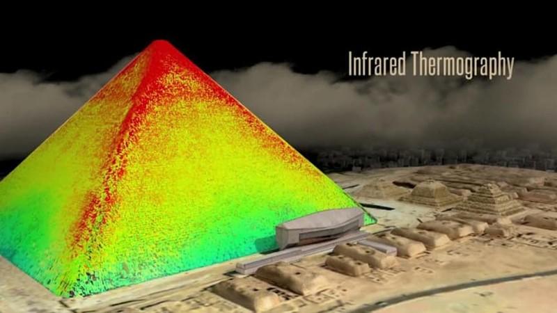 При термосканировании в пирамидах обнаружены яркие пятна история, пирамиды, тайны