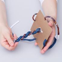 Технология плетения витого шнура. Подхват для шторы. Шаг 11