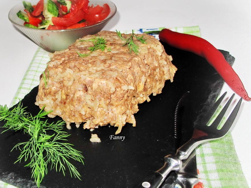 «Кирпич» из куриного и свиного мяса