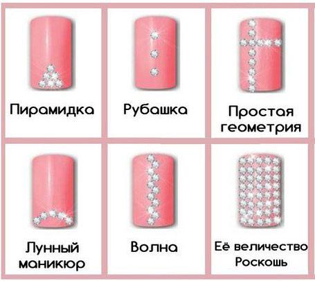 рисунки на ногтях стразами фото