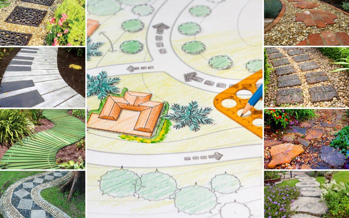 Садовые дорожки своими руками – как и из чего можно сделать