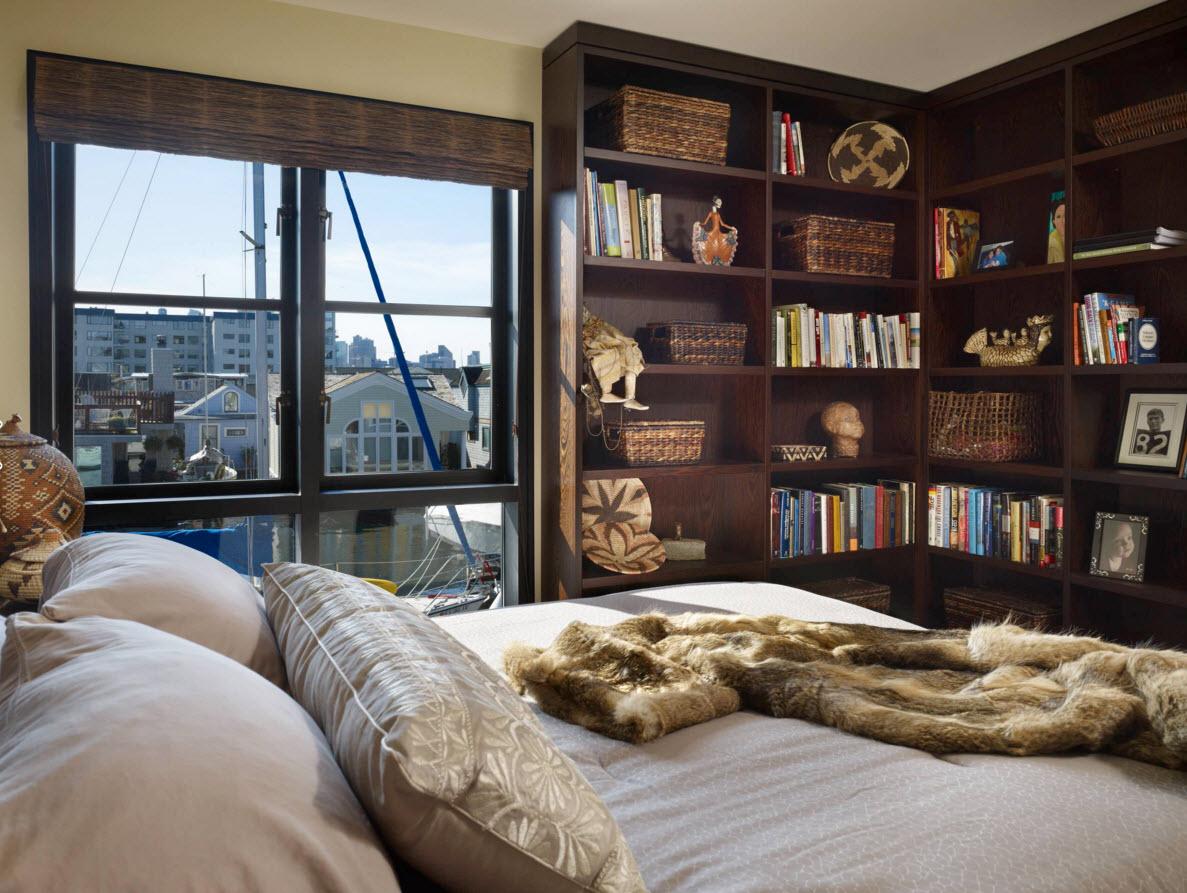 Книжный шкаф для спальни