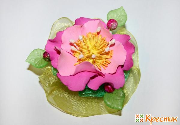Цветы из фоамирана своими руками на заколки и резинки