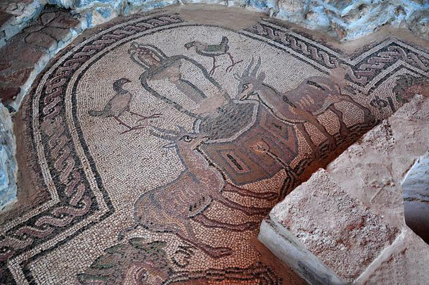 Фрагмент мозаичного пола раннехристианской базилики