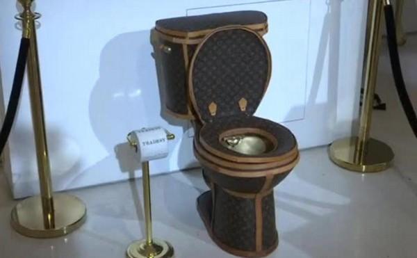 Золотой унитаз Louis Vuitton выставлен на продажу за 100.000$
