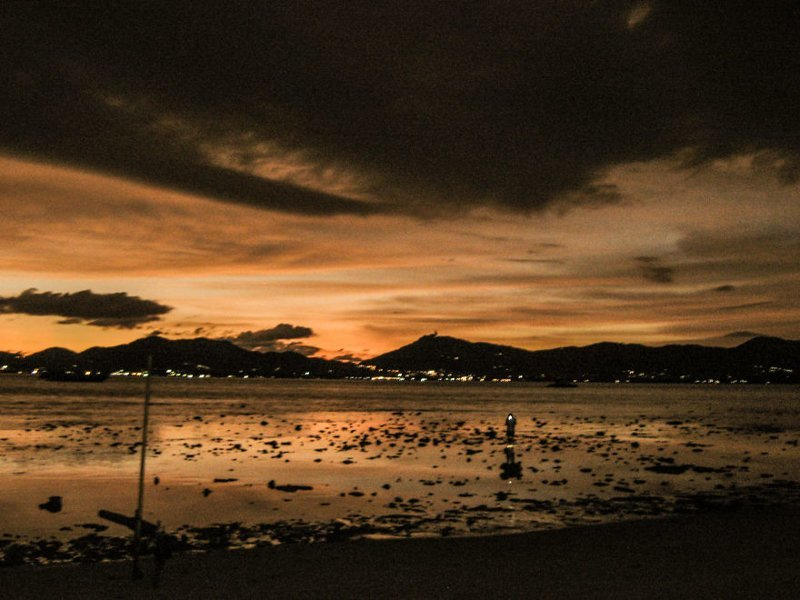 Вид из бара на пляже камера, оборудование, путешествие, снимок, таиланд, фотография, фотомир