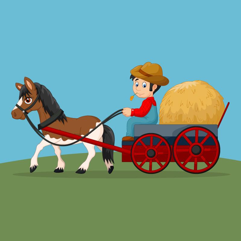 Лошадке тяжело!