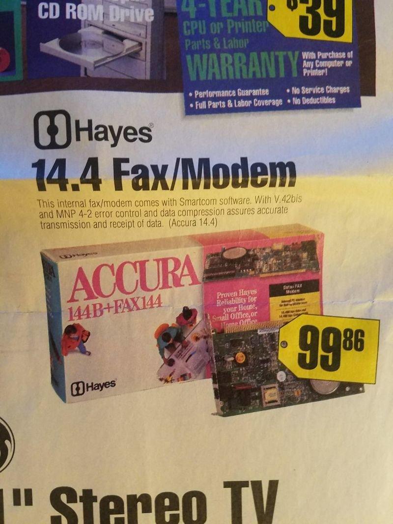 Факс-модем вещи, гаджеты, ностальгия, реклама, техника
