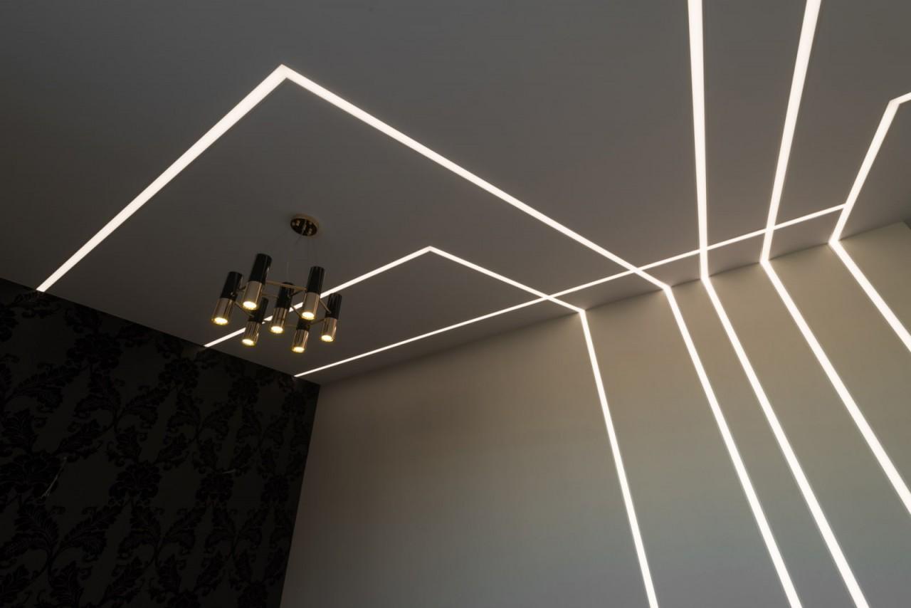 Парящий потолок: разновидности конструкций, форм, цвета, идеи дизайна в интерьере-2
