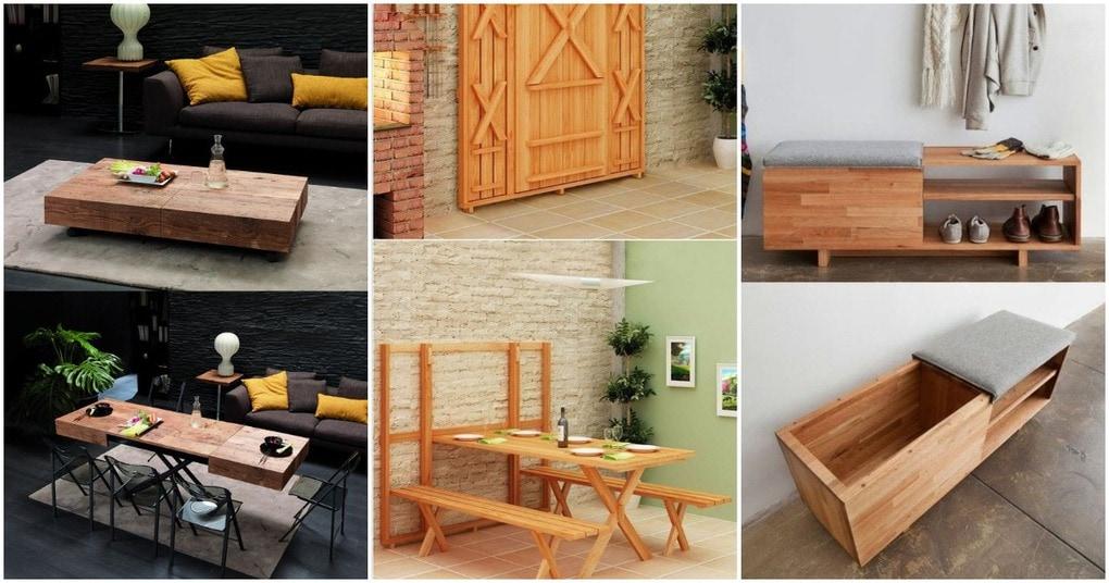 Гениальная «умная» мебель, экономящая пространство в небольшом доме