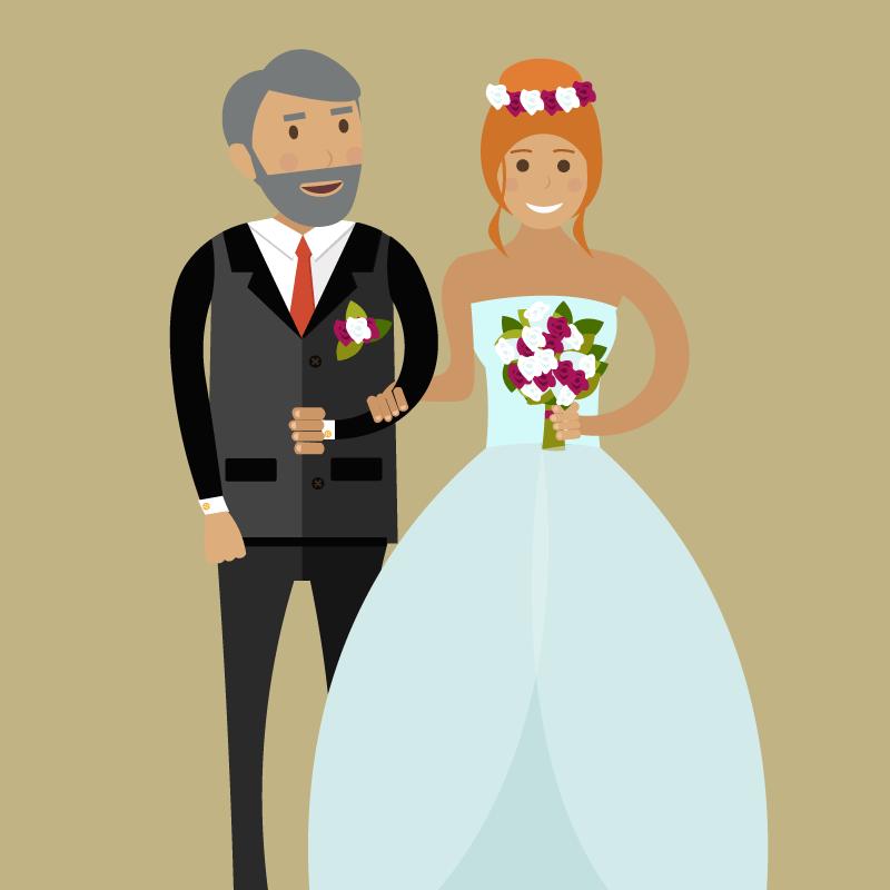 Молодой человек встречается сотцом невесты. Тот начинает его расспрашивать опланах набудущее…