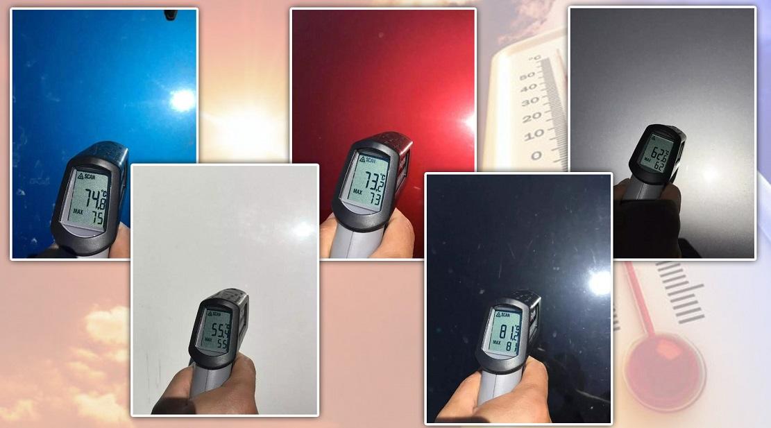 До какой температуры в жаркий день нагревается автомобиль с разными цветами кузова: Тест
