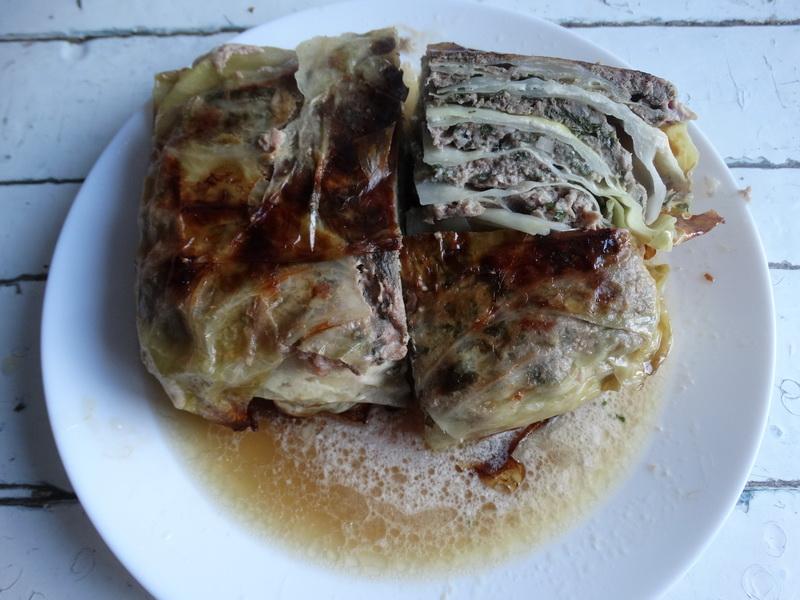 Пирог «Капустная слойка» (без муки, но с мясом)