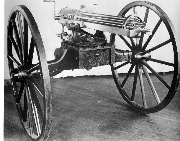 Изобретение и совершенствование. Пулеметы Р. Дж. Гатлинга оружие
