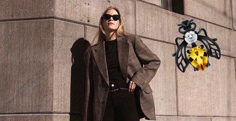 Строгий пиджак и стильная бр…