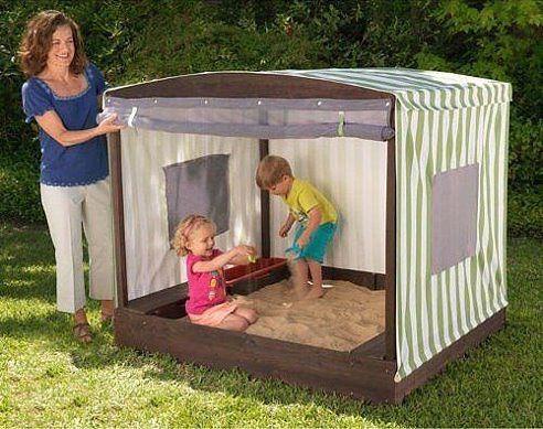 Песочница с тентом и москитной сеткой для ваших малышей