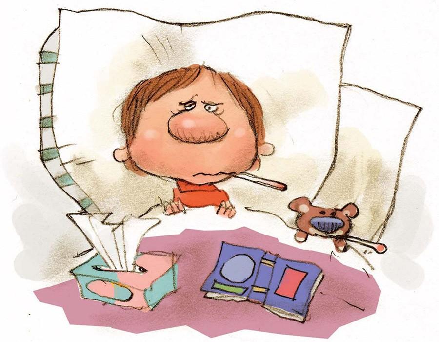 Класс, прикольные картинки про больных гриппом