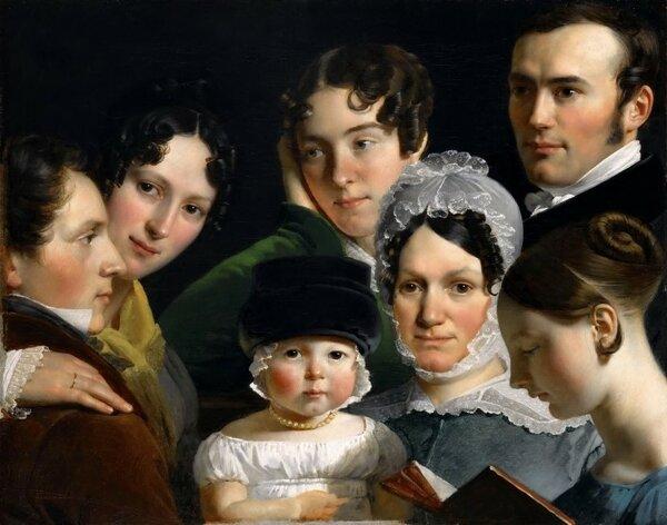 """""""Семья художника в 1820 году"""", холст, масло, Лувр"""