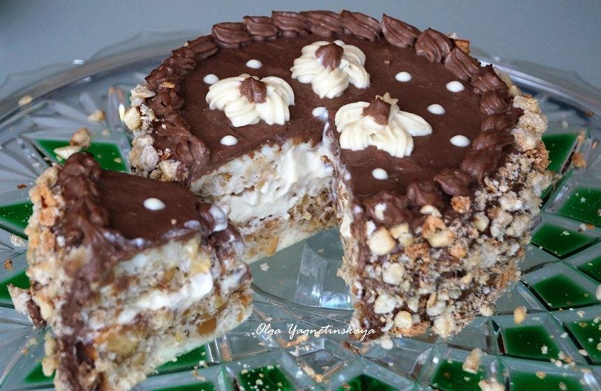 Киевский торт (диетический) без муки и сахара