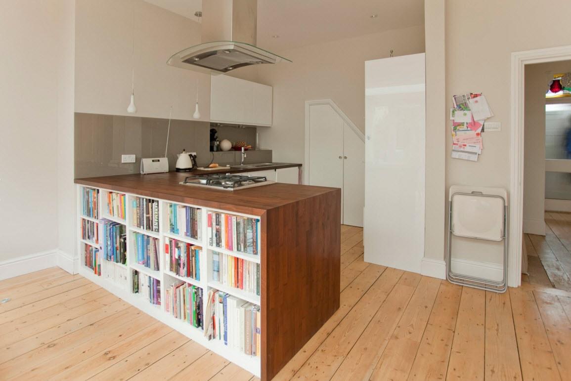 Книжный шкаф для зонирования помещения