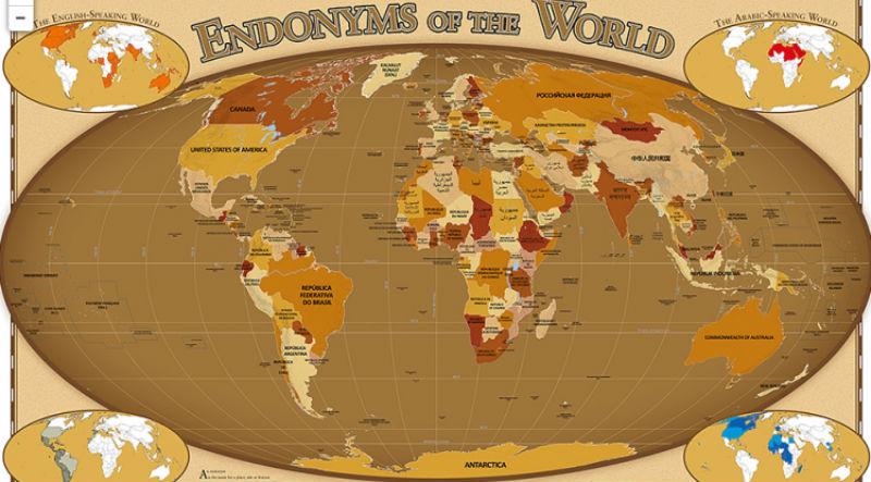 Привет, Беларусь! Создана карта, на которой названия стран написаны на родном языке
