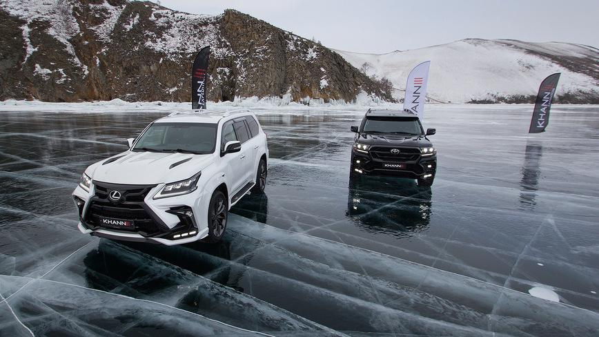 Красивый дрифт Toyota и Lexus на озере Байкал закончился эффектным столкновением