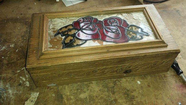 Реставрация старой шкатулки