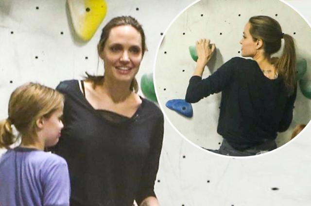 В духе Лары Крофт: Анджелина Джоли занялась скалолазанием вместе со своими детьми