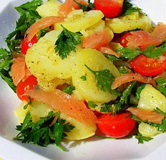 Картофельный салат с лососем и петрушкой .Германия. Фото-рецепт. Olga Dell