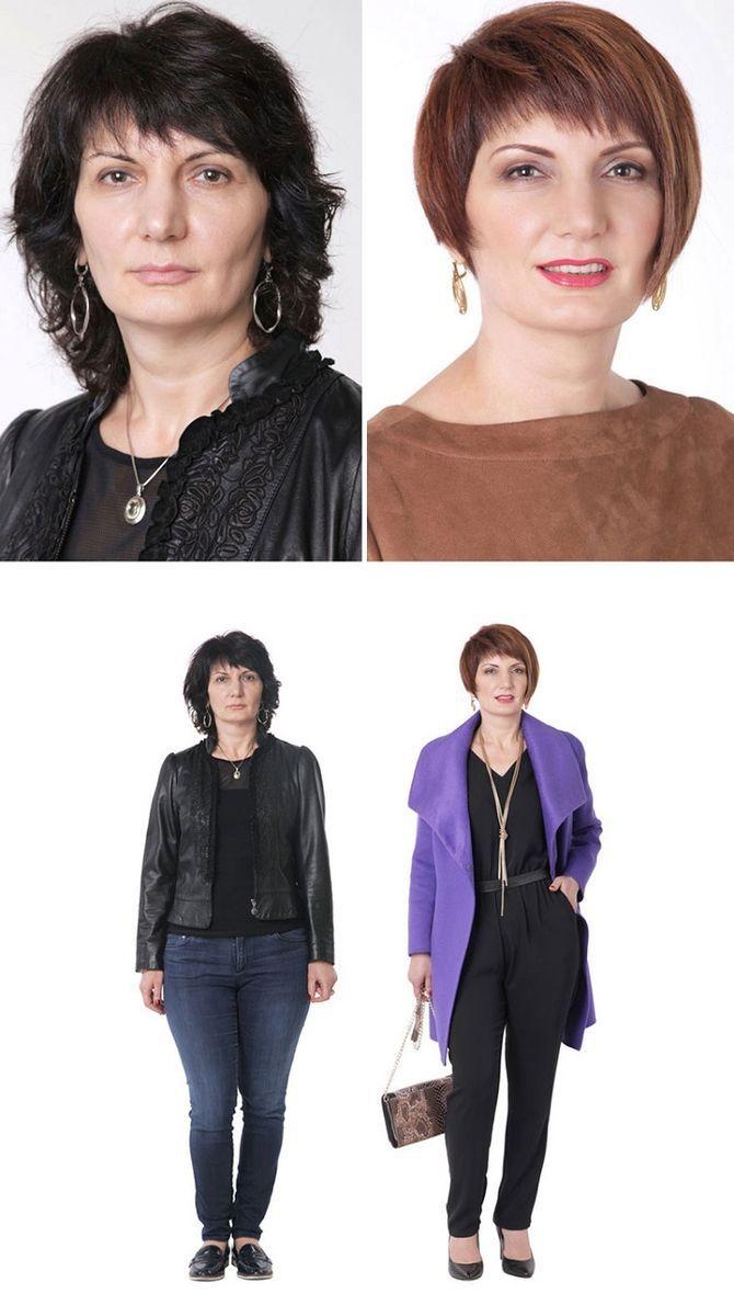 Женщины До и После похода к стилисту