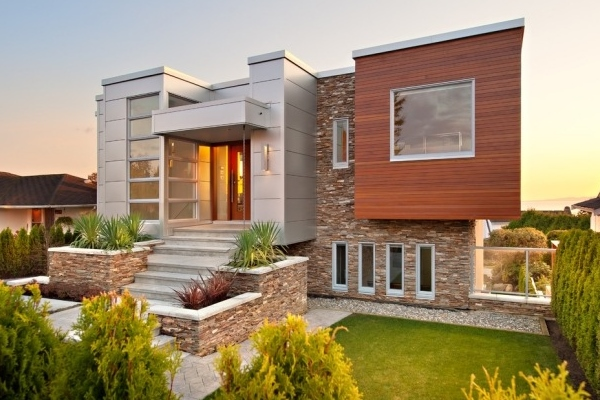 Красивая отделка фасада дома — 40 фото частных домов
