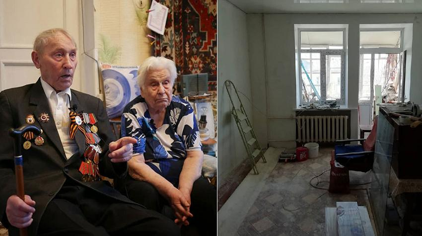 Парень бесплатно сделал ремонт в квартире ветерана войны: фото до и после