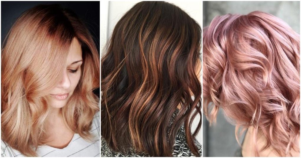 Лучшие идеи для окрашивания волос в розовое золото