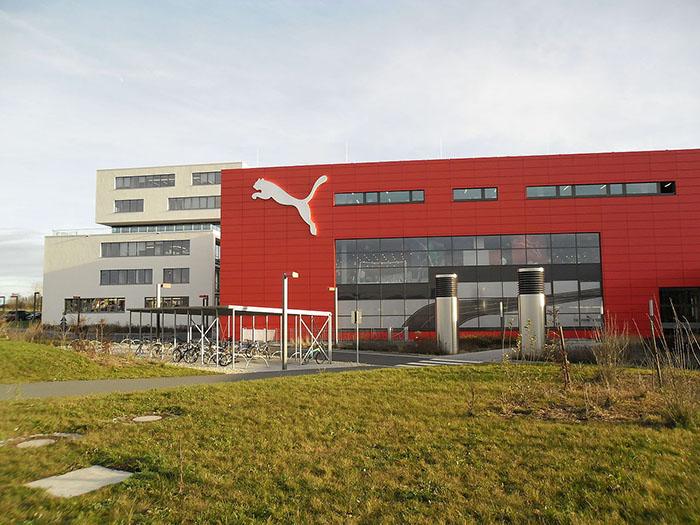 Штаб-квартира Puma в городе Херцогенаурах.