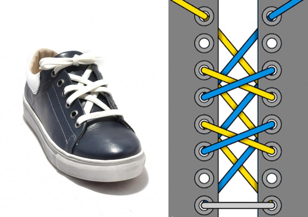картинки как завязывать шнурки кеды