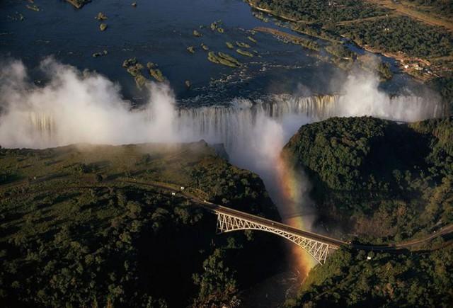 Водопад Виктория в Замбии national geographic, неопубликованное, фото