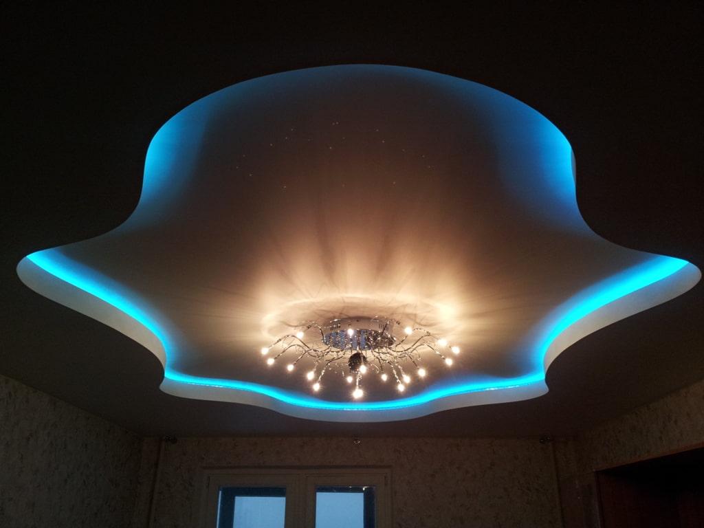 Парящий потолок: разновидности конструкций, форм, цвета, идеи дизайна в интерьере-1