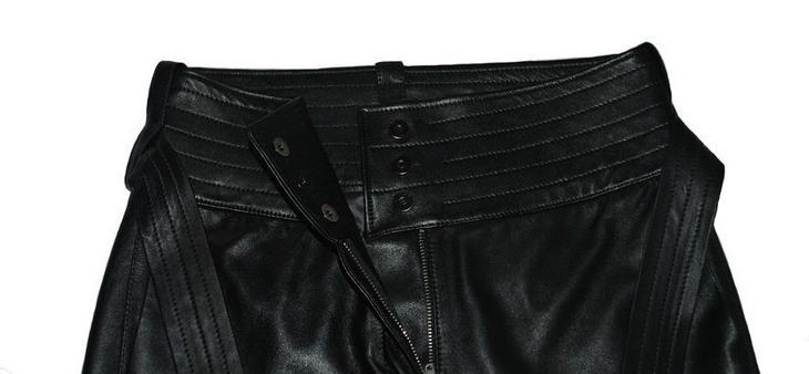 Фото готовых поясов на сшитых женских брюках, вариант 2