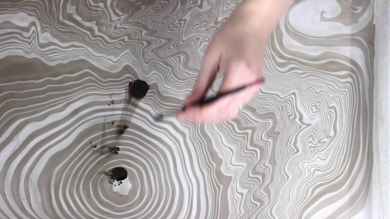 Как создать рисунки на воде, похожие на мрамор, и перенести их на дерево декор,мастер-класс