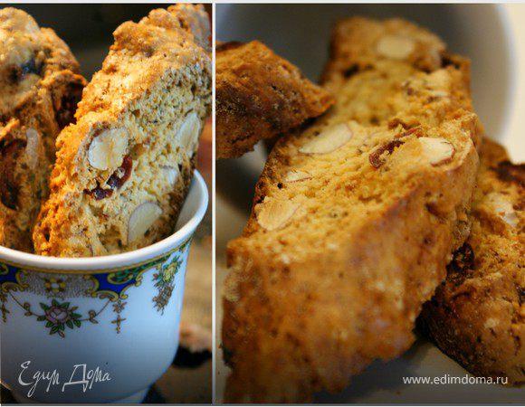 Хрустящее тосканское миндальное печенье Бискотти