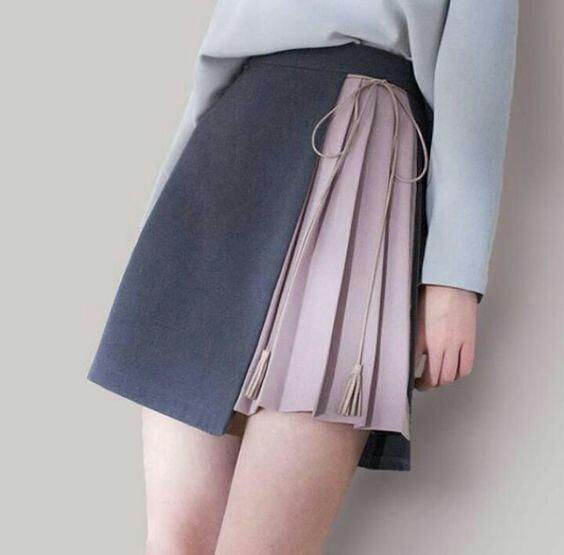 Много идей необычных юбок с запахом.